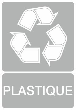 Autocollant Recyclage Plastique