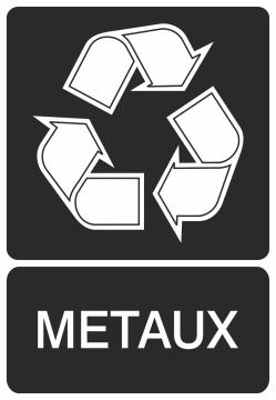 Autocollant Recyclage Metaux