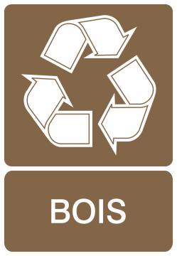 Autocollant Recyclage Bois