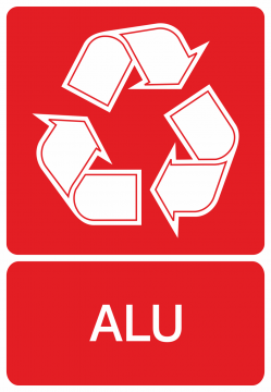 Autocollant Recyclage Aluminium