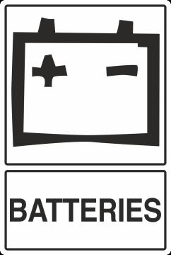 Autocollant Recyclage Batterie