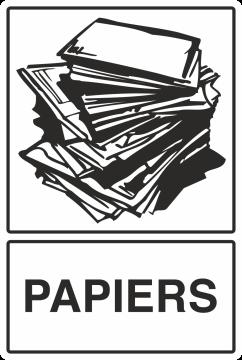 Autocollant Recyclage Papier 1
