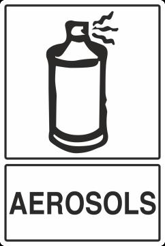 Autocollant Recyclage Aerosols