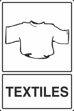 Autocollant Recyclage Textiles