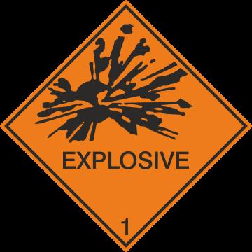 Autocollant Transport Maritime Explosif