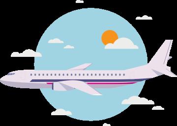 Autocollant Métier Voyage Avion