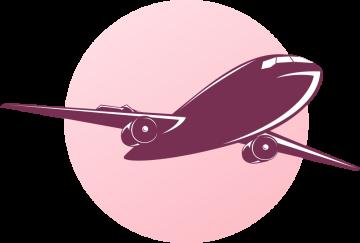 Autocollant Métier Voyage Avion 1