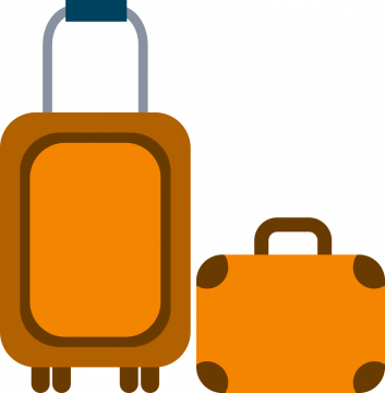 Autocollant Métier Voyage Bagage