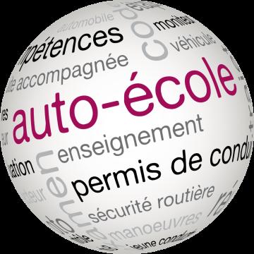 Autocollant Métier Auto Ecole Sphère