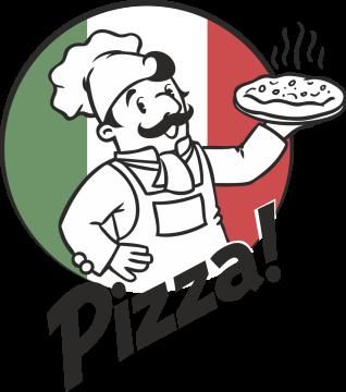 Autocollant Métier Commerçant Pizza