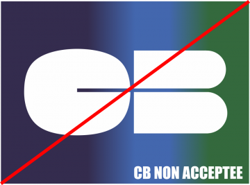 Autocollant Logo Carte Bancaire Non Acceptée
