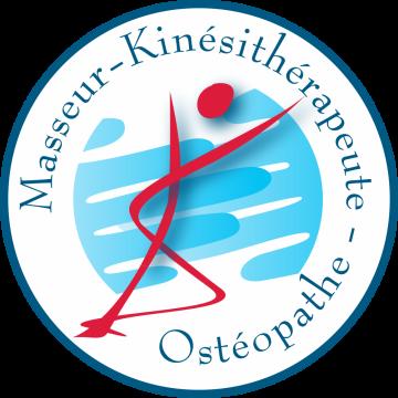Autocollant Logo Masseur Kiné Ostéopathe