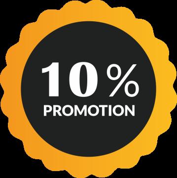 Autocollant Soldes 10% De Promotion