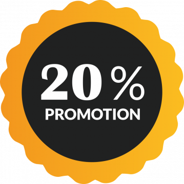 Autocollant Soldes 20% De Promotion