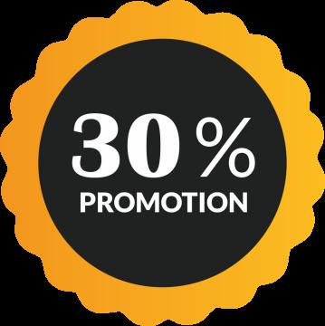 Autocollant Soldes 30% De Promotion