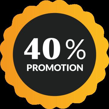 Autocollant Soldes 40% De Promotion
