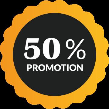 Autocollant Soldes 50% De Promotion