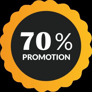 Autocollant Soldes 70% De Promotion