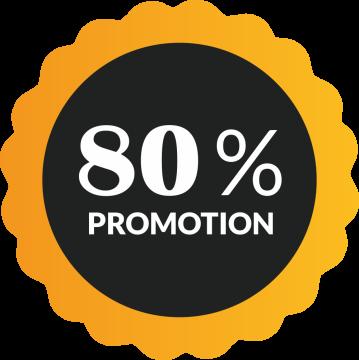 Autocollant Soldes 80% De Promotion