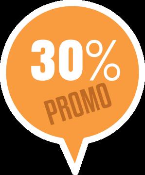 Autocollant Soldes 30% Promo