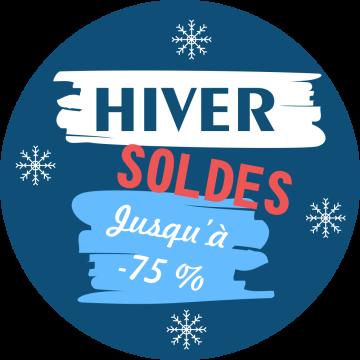 Autocollant Soldes Hiver Jusqu'à -75%