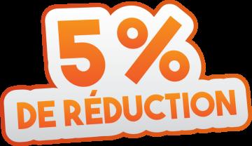 Autocollant Soldes 5% De Réduction