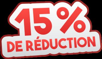 Autocollant Soldes 15% De Réduction