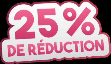 Autocollant Soldes 25% De Réduction