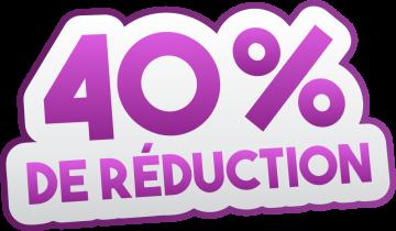 Autocollant Soldes 40% De Réduction