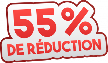 Autocollant Soldes 55% De Réduction