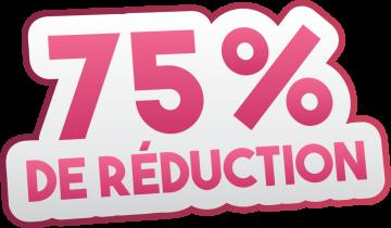 Autocollant Soldes 75% De Réduction