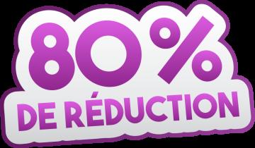Autocollant Soldes 80% De Réduction