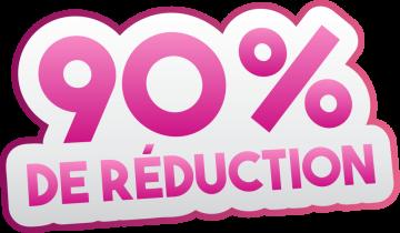 Autocollant Soldes 90% De Réduction