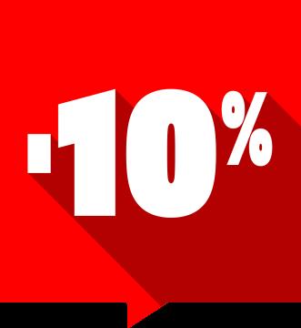 Autocollant Soldes -10% Carré Rouge 1