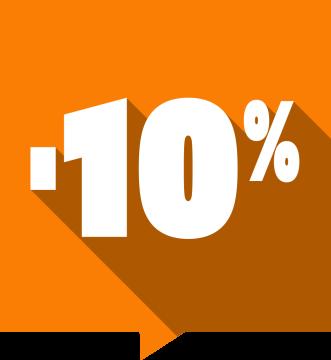 Autocollant Soldes -10% Carré Couleurs