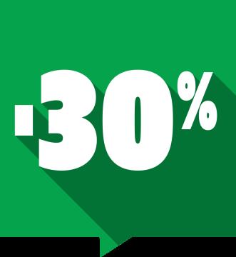 Autocollant Soldes -30% Carré Couleurs