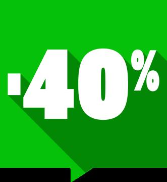 Autocollant Soldes -40% Carré Couleurs
