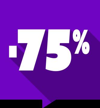 Autocollant Soldes -75% Carré Couleurs