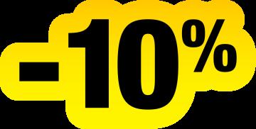 Autocollant Soldes Jaunes Et Noir -10%