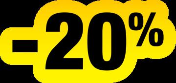 Autocollant Soldes Jaunes Et Noir -20%