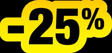 Autocollant Soldes Jaunes Et Noir -25%