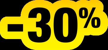 Autocollant Soldes Jaunes Et Noir -30%