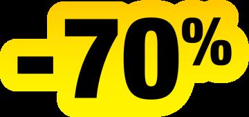 Autocollant Soldes Jaunes Et Noir -70%