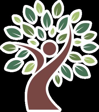 Autocollant Logo Nature Arbre Bonhomme 2