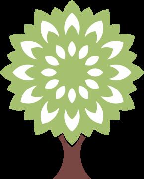 Autocollant Logo Nature Arbre 3