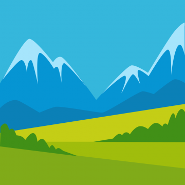 Autocollant Logo Nature Paysage 9