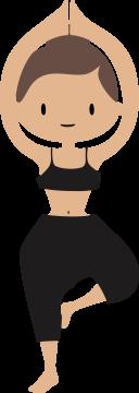 Autocollant Logo Yoga Meditation 3