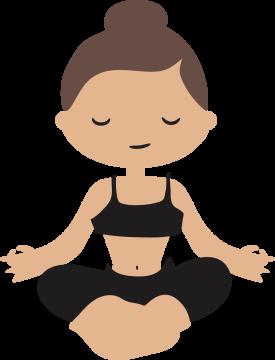 Autocollant Logo Yoga Meditation 4
