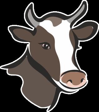 Autocollant Logo Animaux Ferme Vache