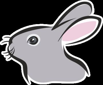Autocollant Logo Animaux Ferme Lapin